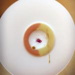 ル・ポタージュ - ズッキーニとトマトのスープ。素材の味がしっかり出てます。