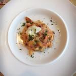ル・ポタージュ - 自家製ちぢれ麺のひよこ豆と野菜のトマトクリームソース
