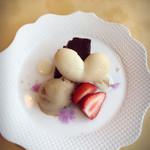 ル・ポタージュ - ヘーゼルナッツのアイスとガトーショコラ。しっとり感が素晴らしい。
