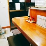 麺鯉 - カウンター席のみの小さならーめん屋さん。