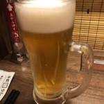 一蘭 - 今日の昼飲みは生ビール2杯