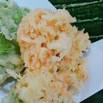 蕎仙 - 生桜海老のかき揚げ。