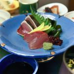 日比野 - 天ぷら御膳の刺身