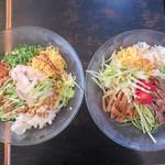 風靡 - 料理写真:冷やし中華と中華冷麺。どちらも850円。