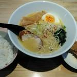 麺屋 龍 - 「鶏濃厚麺定食」880円