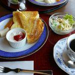 ぷろばんす - 料理写真:トーストモーニングプレート