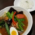 西屯田通りスープカレー本舗 - 野菜カレー 980円