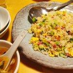 龍福園 - 【New!】色鮮やかな鴨肉チャーハン(二人前)とスープ