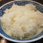 烈志笑魚油 麺香房 三く - ご飯も結構大盛!