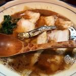 烈志笑魚油 麺香房 三く - 肉かけ大盛!