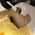 第三春美鮨 - エゾアワビ 480g 手鉤漁 宮城県七ヶ浜を握りと厚い切りつけで