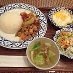 68741886 - Aランチ(鶏とバジル炒めご飯)