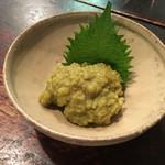 寺方蕎麦 長浦 - 鳥わさび和え(650円)
