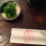 寺方蕎麦 長浦 - お通しアップ
