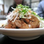中華菜館 水蓮月 - 蒸ヒナ鶏のネギ醤油
