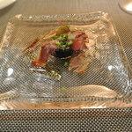 サヴール - アミューズ 滝川産の生ハムとお野菜