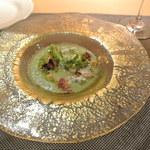 サヴール - 前菜1 すぐり夕張メロンのガスパチョ