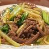中国料理 慶福楼 - 料理写真:セロリと牛肉入り焼きそば1,250円+税の大盛200円+税