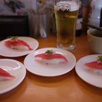 かっぱ寿司 - 天然まぐろハラモ&生ビール~☆