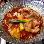 魚沼釜蔵 - コース料理(越後もち豚魚沼雪譜味噌 シチュー煮込み)