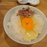 麺屋 極鶏 - 2017年5月 玉子かけご飯セット(極鶏 鶏だく) 950円