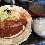 豚子新地 - 料理写真:えごまロースかつ定食@1,382円