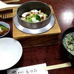 68761136 - 『季節限定釜めし(鯛)』と『いわしのつみれ汁』