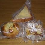 ぱんやベッキー - 上:フレンチ・トースト、左:ぽてと・フランス、右:パンペルデュ