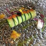 68761447 - 前菜1:北海道産魚介のカネロニ仕立て