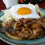 玉蘭 - 豚スタミナ焼き単品。ご飯によく合います❗