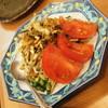 俵 - 料理写真:お茶の葉サラダ(580円)2017年6月