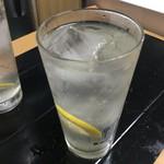 福田フライ - レモンサワー