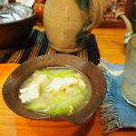68765851 - ナーベラーと豆腐の味噌煮。