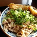 丸亀製麺 - こく旨豚しゃぶぶっかけ・かしわ天ぷら