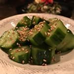 お好み焼き いまり - 胡瓜の胡麻和え