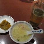 陳麻婆豆腐 - ランチのスープとザーサイ