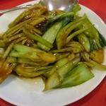 上海菜館 - △青菜のカキ油炒め 680円