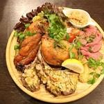 川崎バル 樽屋 - 肉コンボ