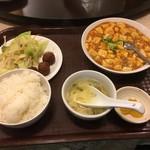 中国料理 天祥 - 麻婆豆腐定食800円