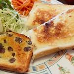 コンセルボ - アーモンドトースト・・ (小豆のパンがおいし~)