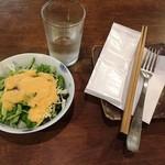 68777814 - 170302カレートーストハーフ900円ドリンク付きのサラダ