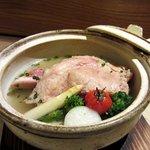 淡々菜 - 和のアイスバイン コラーゲンいっぱいの豚すね肉に和野菜を添えて