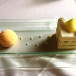 デザートカフェ長楽館 - メロンのショートケーキ