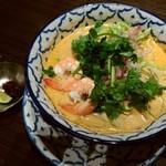 アジアンテイブル - ラクサヌードルと辛味噌とライム♪