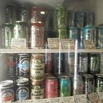 びあマ - こんな感じで世界中のビールが陳列されている