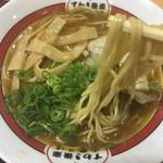 吉備サービスエリア(上り線)レストラン - すわき後楽中華そば(´∀`) ☆★恒例☆麺AGE♫★☆