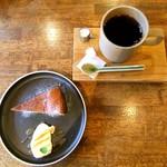 68783907 - ラム漬け無花果のチーズケーキ&HAGISOオリジナルブレンド♡