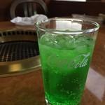 焼肉バイキング ウエスタン - ドリンク写真:緑酸水