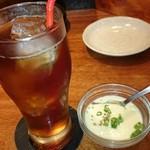 わらいや - ウーロン茶・韓国風茶碗蒸し