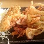 四季の海鮮 魚々味 - かき揚げ+魚フライ
